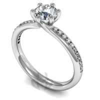 Engagement Ring with Shoulder Stones (TBC876) - GIA Certificate