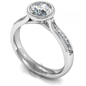 Engagement Ring with Shoulder Stones (TBC883) - GIA Certificate