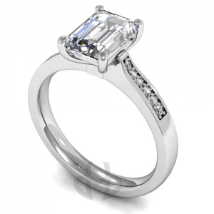 Engagement Ring with Shoulder Stones (TBC913) - GIA Certificate