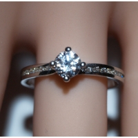 Engagement Ring with Shoulder Stones (TBC877) - GIA Certificate