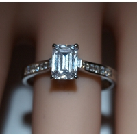 Diamond Shoulder Stone Engagement Ring - GIA Certificate