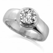 18ct White Gold 1.0 Carat Diamond Engagement Ring - Solitaire