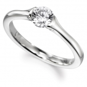 9ct White Gold Diamond Engagement Ring Brilliant Cut Solitaire - Fast Delivery