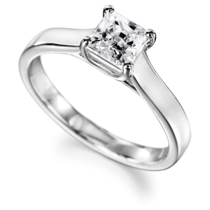9ct White Gold GIA Diamond Engagement Ring