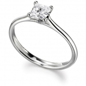 9ct White Gold Diamond Engagement Ring Brilliant Cut Fast Delivery