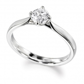 Platinum Diamond Engagement Ring Brilliant Cut Solitaire - Fast Delivery