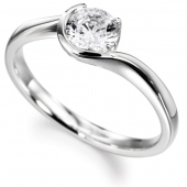18ct White Gold Diamond Engagement Ring Solitaire