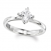 9ct White Gold Diamond Engagement Ring Princess Cut Solitaire Fast Delivery