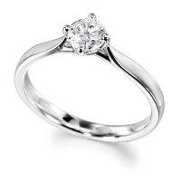 Palladium GIA Diamond Engagement Ring