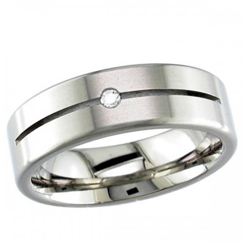 Diamond Wedding Ring (TBC2DS) Titanium
