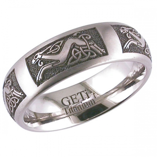 Celtic (2204CD1) Titanium Wedding Ring