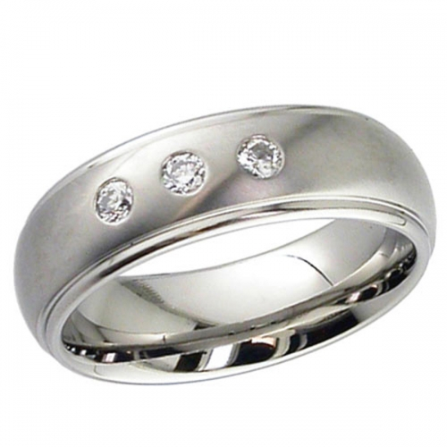 Diamond Wedding Ring Titanium (2205DSx3)