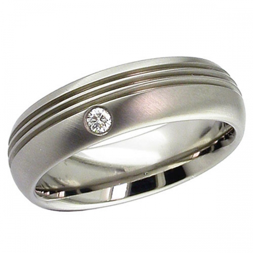 Diamond Wedding Ring Titanium (2206DS)