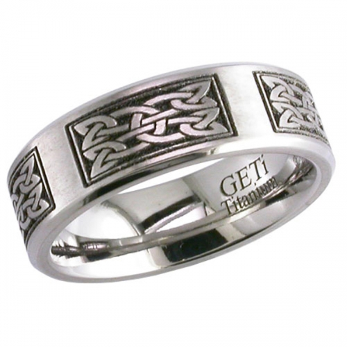 Celtic (2226cd15) Titanium Wedding Ring