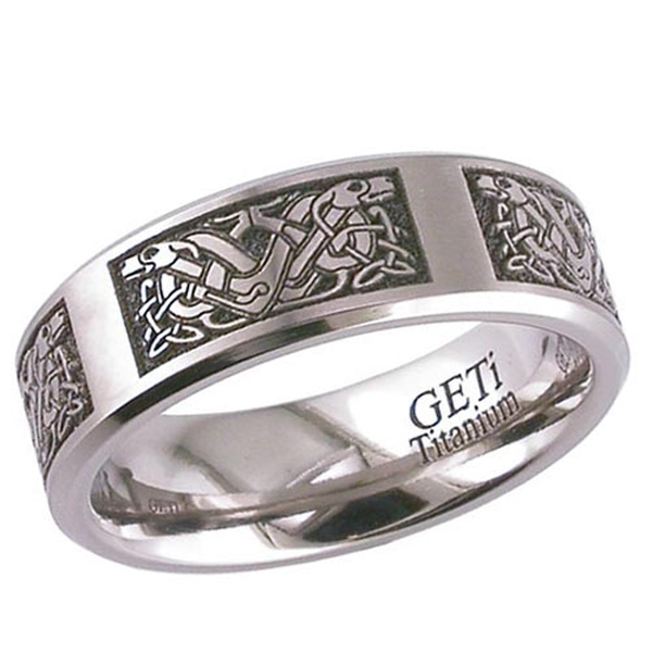 Celtic 2226cd4 Titanium Wedding Ring 2226cd4