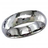 Titanium Wedding Ring - Patterned Titanium Ring