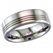 Titanium Wedding Rings - Patterned Titanium Ring