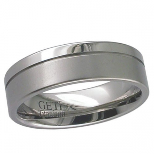 Patterned Titanium Wedding Ring (2267)