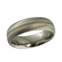 Titanium Wedding Ring - Inlaid Titanium Ring