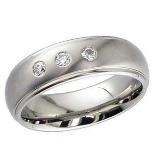 Diamond Wedding Ring Titanium (2205DSx3)