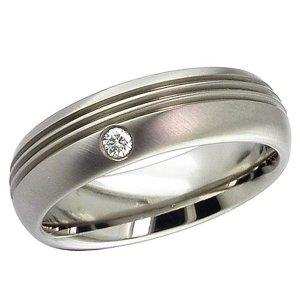 Diamond Wedding Ring Titanium (2206DS)