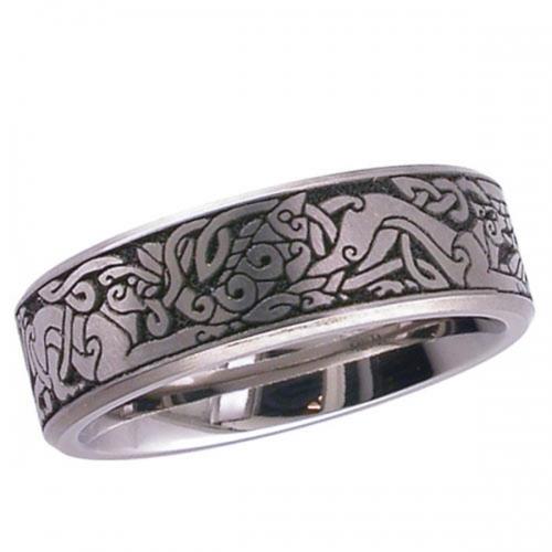 Celtic (2226CHCD5) Titanium Wedding  Ring