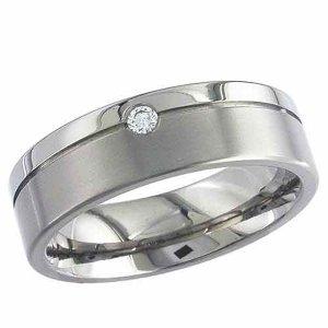 Diamond Wedding Ring Titanium (TBC2267DS)
