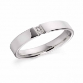 Platinum Diamond Mens Engagement Ring 4mm