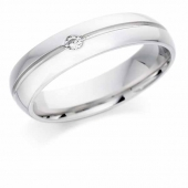 Platinum Diamond Mens Engagement Ring 5mm