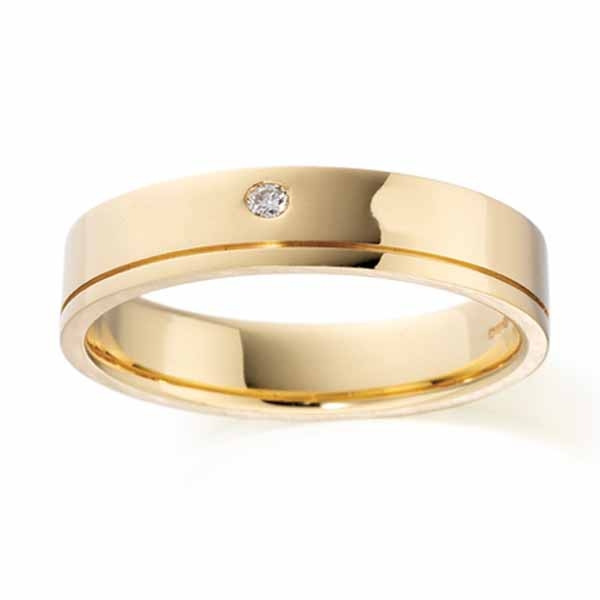 Wedding Rings Men Gold
