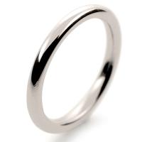 Soft Court Very Heavy - 2.0mm (SCH2 W) White Gold Wedding Ring