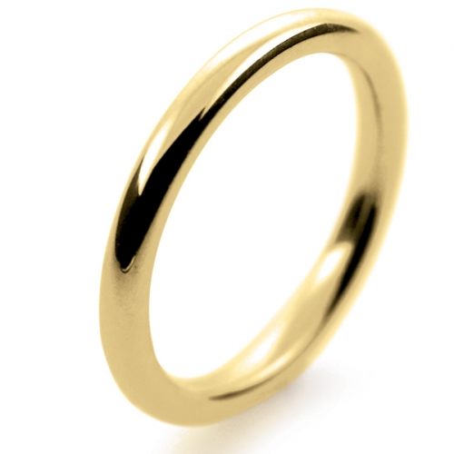 Soft Court Very Heavy -   2mm (SCH2-Y) Yellow Gold Wedding Ring