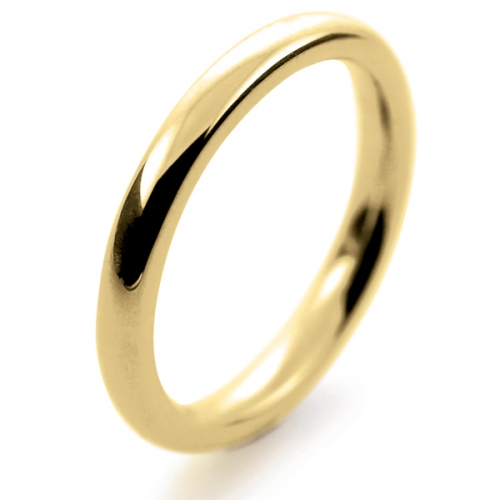 Soft Court Very Heavy -  2.5mm (SCH2.5Y) 18ct Yellow Gold Wedding Ring