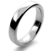 Slight or Soft Court Very Heavy -  4mm Platinum Wedding Ring (Plat or Pall)