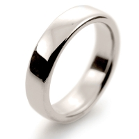 Soft Court Very Heavy - 5mm (SCH5 W) White Gold Wedding Ring