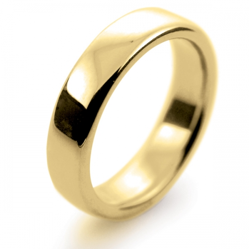 Soft Court Very Heavy - 5mm (SCH5-Y) Yellow Gold Wedding Ring