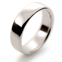 Soft Court Very Heavy - 6mm (SCH6 W) White Gold Wedding Ring