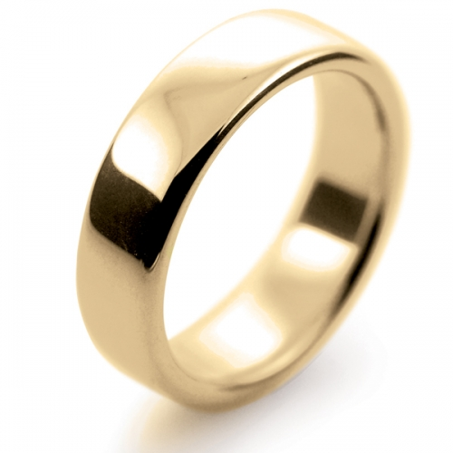 Soft Court Very Heavy -  6mm (SCH6Y-9Y) 9ct Yellow Gold Wedding Ring
