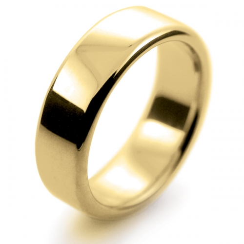 Soft Court Very Heavy - 7mm (SCH7-Y) Yellow Gold Wedding Ring