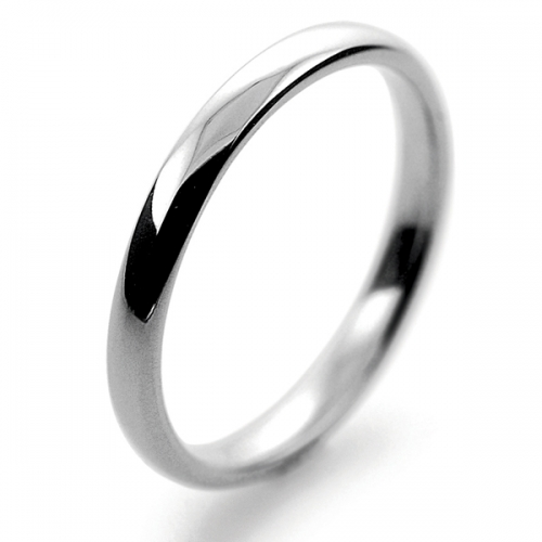 Slight or Soft Court Light -   2mm Platinum Wedding Ring (Plat or Pall)