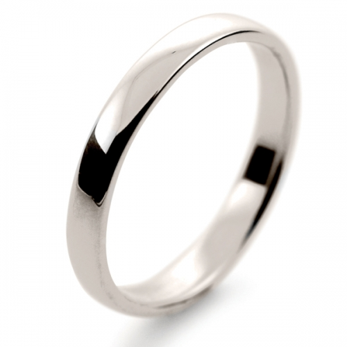 Soft Court Light - 2.5mm (SCSL2.5 W) White Gold Wedding Ring