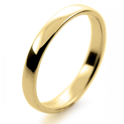 Soft Court Light -  2.5mm (SCSL2.5Y) 18ct Yellow Gold Wedding Ring