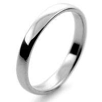 Slight or Soft Court Light -  2.5mm Platinum Wedding Ring (Plat or Pall)