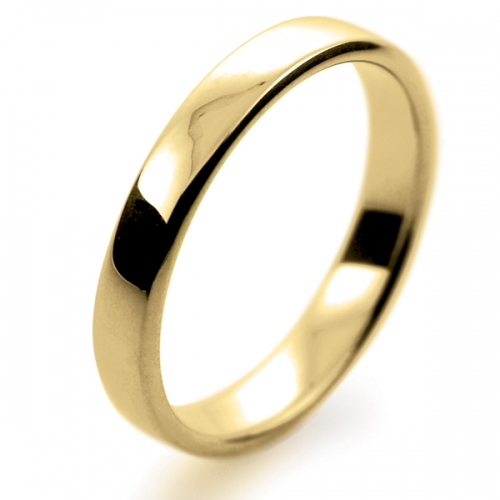 Soft Court Light - 3mm (SCSL3-Y) Yellow Gold Wedding Ring