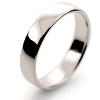Soft Court Light - 4mm (SCSL4 W) White Gold Wedding Ring