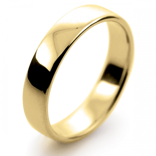 Soft Court Light -  4mm (SCSL4-Y) Yellow Gold Wedding Ring