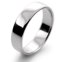 Slight or Soft Court Light - 5mm (SCSL5PAL) Palladium Wedding Ring