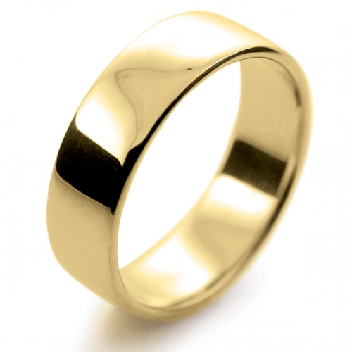 Soft Court Light -  6mm (SCSL6-Y) Yellow Gold Wedding Ring