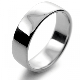 Slight or Soft Court Light -  6mm Platinum Wedding Ring (Plat or Pall)