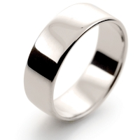Soft Court Light - 7mm (SCSL7 W) White Gold Wedding Ring